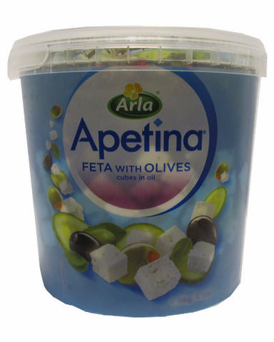Danish Feta with Olives In Oil and Spices (Apetina) 3.1 lb - Parthenon Foods