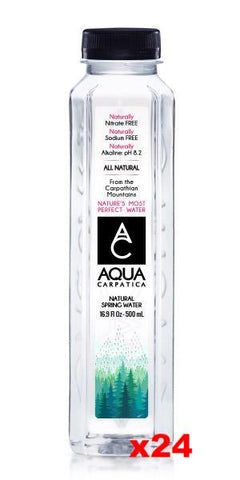 Aqua Carpatica Natural Spring Water CASE (24 x 16.9 fl oz) Plastic - Parthenon Foods