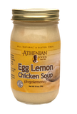 Egg Lemon Chicken Soup with Rice (Athenian) 16 oz Jar - Parthenon Foods