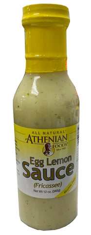 Egg Lemon Sauce, Fricassee (Athenian Foods) 12 oz (340g) - Parthenon Foods