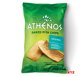 Baked Pita Chips, Original (Athenos) CASE (12 x 9 oz) - Parthenon Foods