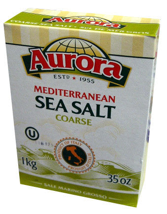Sea Salt, Mediterranean, COARSE (Aurora) 1kg (35 oz) - Parthenon Foods