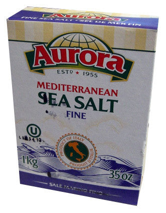 Sea Salt, Mediterranean, FINE (Aurora) 1kg (35 oz) - Parthenon Foods