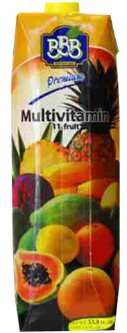 Multivitamin Juice, 11 fruits (BBB) 1L - Parthenon Foods