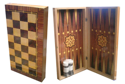 Backgammon Set (Tavli) Wooden - Parthenon Foods
