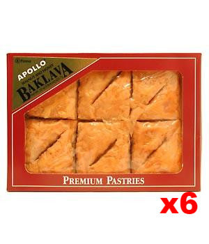 Baklava with Walnuts and Honey CASE 6x12pieces(22oz) - Parthenon Foods