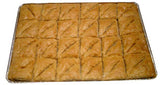 Baklava with Walnuts and Honey, TRAY, 48 Triangles - Parthenon Foods