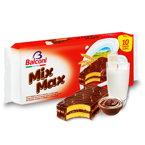 Mix Max, Sponge Cake with Cocoa Filling and Coating, 10pk 350g - Parthenon Foods  - 1