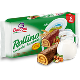 Sponge Cakes with Hazelnut Filling (Rollino) 6pc - Parthenon Foods