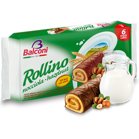 Sponge Cakes with Hazelnut Filling (Rollino) 6pc - Parthenon Foods  - 1