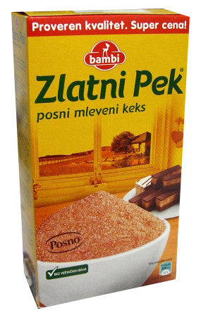 Zlatni Pek, GROUND Biscuit (Bambi) 10.6 oz (300g) - Parthenon Foods