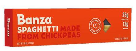 Spaghetti Made From Chickpeas (Banza) 8 oz - Parthenon Foods