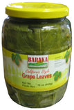 Grape Leaves (Baraka) 2lb Jar, DR.WT. 16 oz (454g) - Parthenon Foods