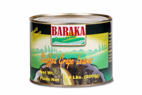 Stuffed Grape Leaves (Baraka) 4.4 Lbs. (2000g) - Parthenon Foods