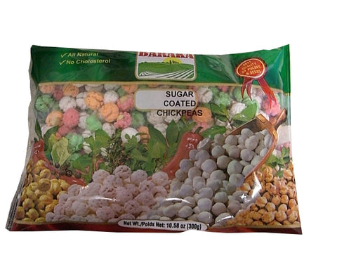 Sugar Coated Chick Peas, Colored (Baraka) 10.58 oz (300g) - Parthenon Foods
