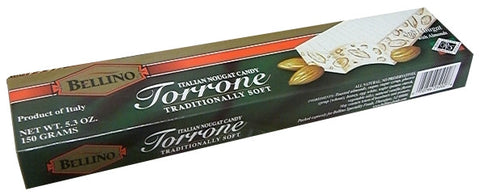 Torrone Soft Nougat with Almonds (BELLINO) 150g (5.3 oz) - Parthenon Foods