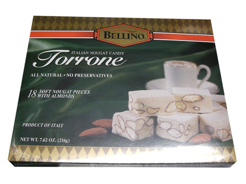 Torrone Nougat Candy, 18 Pieces (Bellino) 216g - Parthenon Foods