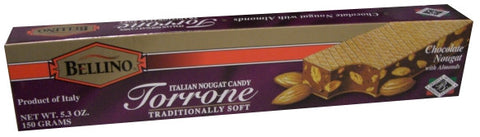 Torrone Chocolate Nougat with Almonds (BELLINO) 150g (5.3 oz) - Parthenon Foods