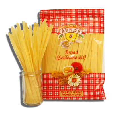 Broad Noodles (Bende) 8.8oz (250g) - Parthenon Foods