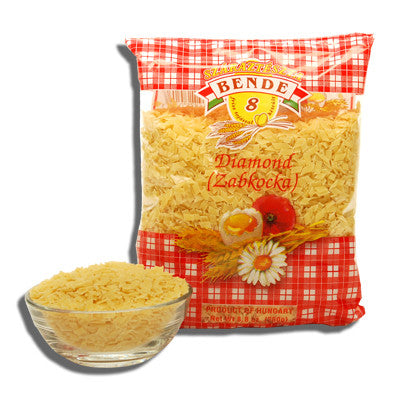 Small Square Noodle Flakes, Diamond (Bende or kelemen) 8.8oz (250g) - Parthenon Foods