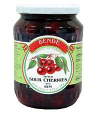 Pitted Sour Cherries with Rum Compote (bende) 24.5oz - Parthenon Foods