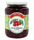 Pitted Sour Cherries Compote (bende) 24oz - Parthenon Foods