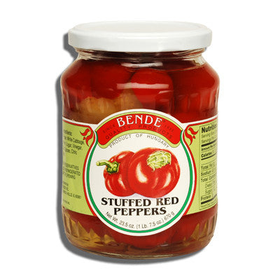 Stuffed Red Peppers (Bende) 23.5oz - Parthenon Foods