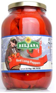 Red Roasted Peppers with Garlic (Biljana) 2500g - Parthenon Foods