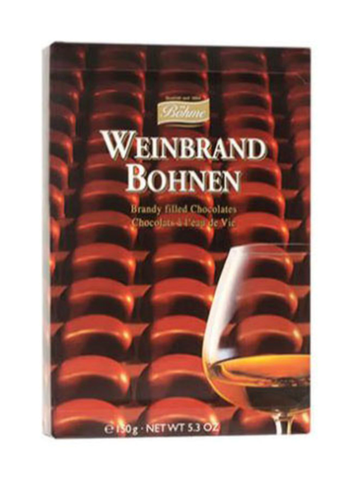 Brandy Filled Chocolates, Weinbrand Bohnen, 5.3 oz - Parthenon Foods
