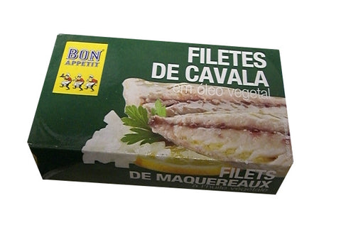 Mackerel Fillets in Vegetable Oil (Bon Appetit) 120g - Parthenon Foods