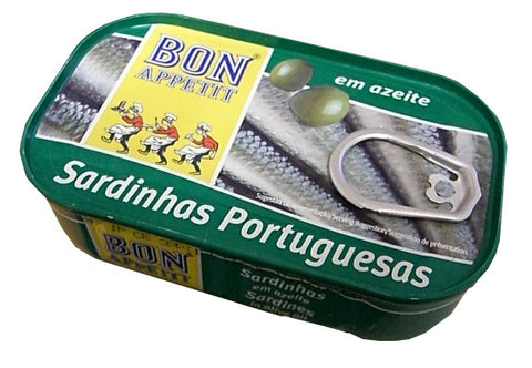 Sardines in Olive Oil (Bon Appetit) 120g - Parthenon Foods