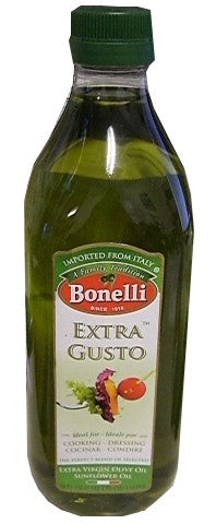 Bonelli Extra Gusto Extra Virgin Olive Oil and Sunflower Oil, 1L - Parthenon Foods