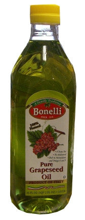Pure Grapeseed Oil (Bonelli) 1 L - Parthenon Foods