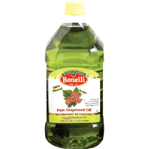 Pure Grapeseed Oil (Bonelli) (68 Fl OZ) 2 LITERS - Parthenon Foods