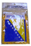 Bosnian-Herzegovinian Flag with String and Suction Cup, 4x6 in. - Parthenon Foods