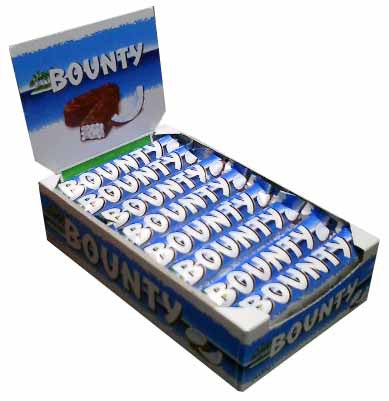 Bounty Milk Chocolate Bar, CASE, 24x57g - Parthenon Foods