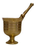 Brass Mortar and Pestle 5 in. high - Parthenon Foods