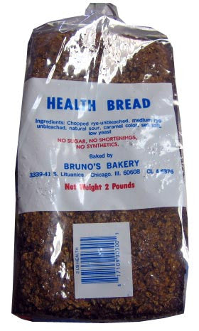 Brunos Health Bread, Not Sliced, 2lbs - Parthenon Foods