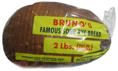 Brunos Famous Sour Rye Bread, Sliced, 2lbs - Parthenon Foods