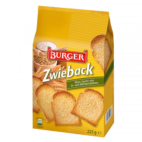 Zwieback, Rusks (Burger) 8 oz (225g) - Parthenon Foods