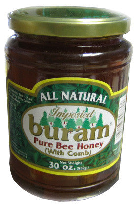 Pure Bee Honey with Comb (Buram) 30 oz (850g) - Parthenon Foods