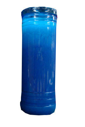 Candle in Blue Container, 8in. High x 2.75in. diam. - Parthenon Foods