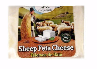 Romanian Telemea Sheep Feta Cheese, approx. 350g - Parthenon Foods