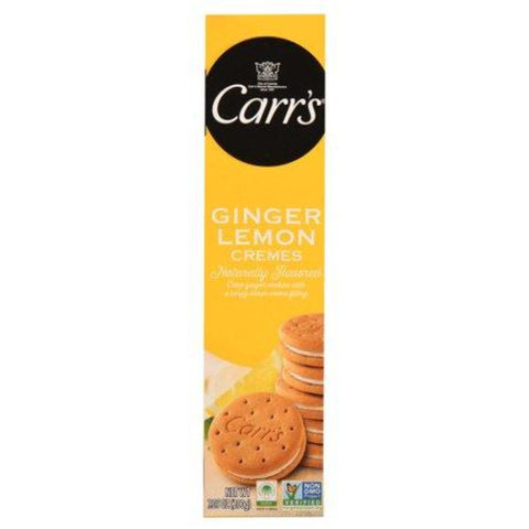 Carr's Ginger Lemon Cremes Cookies, 7.05 oz (200 g) - Parthenon Foods