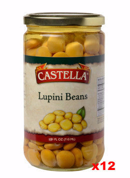 Lupini Beans Imported (castella), CASE, 12 x 12oz - Parthenon Foods