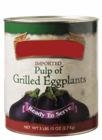 Pulp of Grilled Eggplants (Castella) 5 lbs 15 oz (2.7 kg) Can - Parthenon Foods