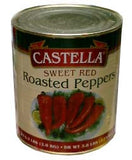 Sweet Red Roasted Peppers (castella) 6.3lb Can - Parthenon Foods