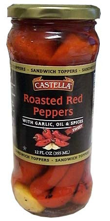 Roasted Red Peppers, Sweet (Castella) 12 fl oz - Parthenon Foods