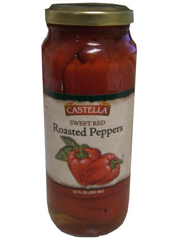 Sweet Red Roasted Peppers (Castella) 12 fl oz - Parthenon Foods
