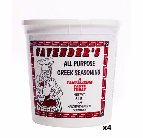 Cavenders All Purpose Greek Seasoning, CASE, 4x5lb - Parthenon Foods